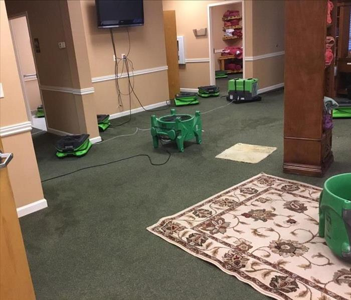 Small Water Damage Interrupted Commercial Business in Ocala, FL.