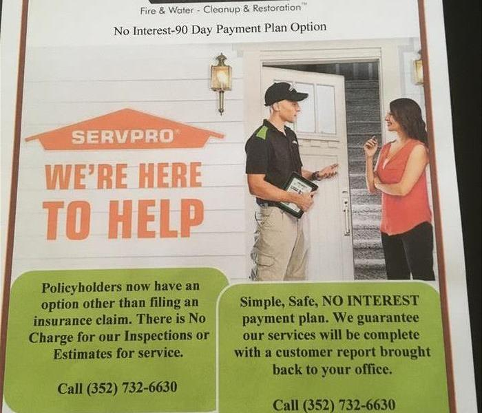 General SERVPRO of Ocala 90 Day Payment Plan Option